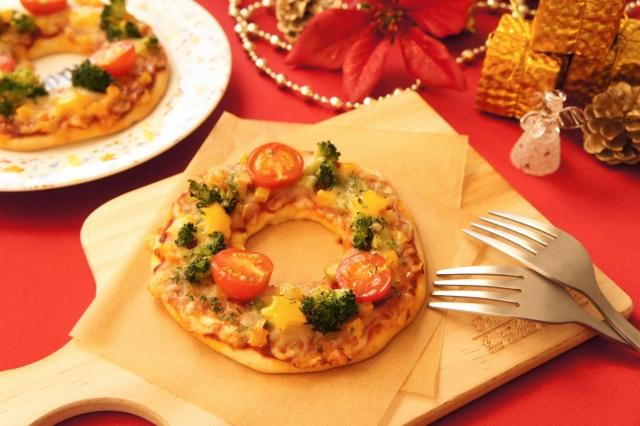 クリスマスのカニピザ