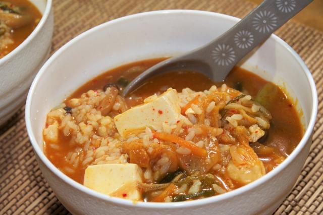 キムチ雑炊の画像