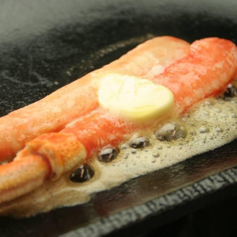カニのオーブンバター焼き