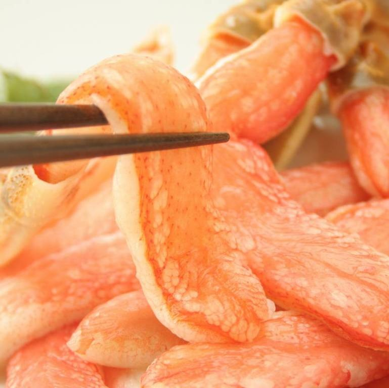 カニ本舗のズワイガニをた口コミ 解凍したズワイガニ身の画像