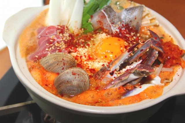 カニ料理 キムチ鍋のイメージ画像