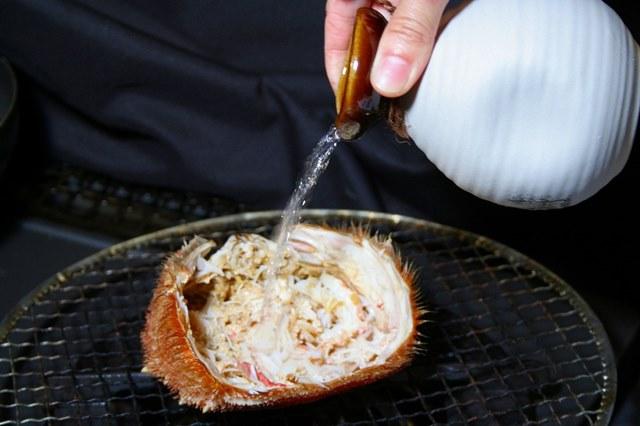 毛ガニの甲羅酒