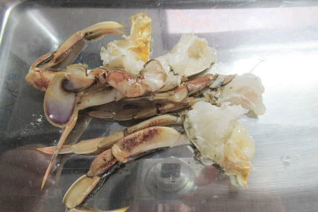 ヒラツメガニ 丸ガニ から揚げ 作り方 レシピ