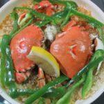 ヒラツメガニ 丸ガニ 丸蟹 パエリア レシピ