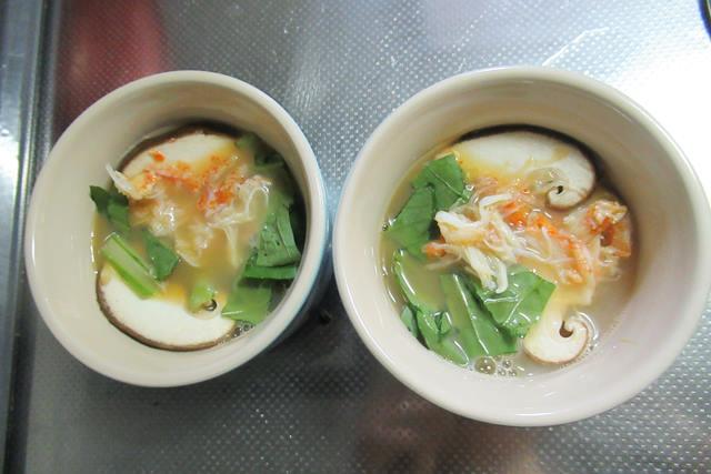 毛ガニの茶わん蒸し 作り方 レシピ