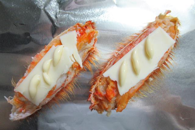 毛ガニの足のチーズ焼き 作り方