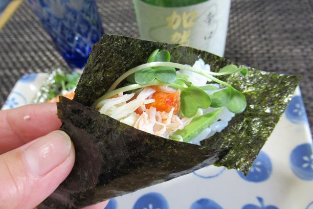 毛ガニの手巻き寿司 作り方 レシピ