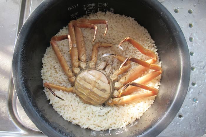 セコガニ 炊き込みご飯
